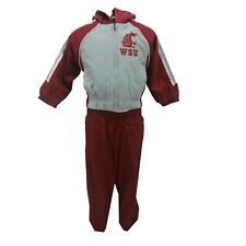 Washington State Cougars NCAA Baby Infant 2 Piece Hooded Sweatshirt & Pants Set