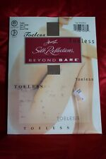 NOS Vtg Pantyhose TOELESS Beige HANES SILK REFLECTIONS Beyond Bare OAO85 Sz AB S