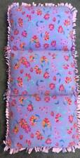 Homemade Fleece Caterpillar Bed/Chair - Floral Lilac, Pink, Orange and Teal