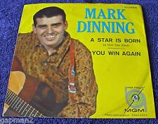 Mark Dinning 1960 MGM 45rpm A Star Is Born b/w You Win Again TeeN