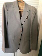 vintage mens blazer/sport jacket  40L tan with matching brown pocket scarf
