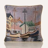 Seascape & Ships Tapestry Cushion Covers in 2  designs Also Filled Cushion