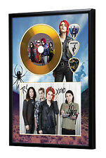 My Chemical Romance Gold Look CD, Autograph & Plectrum Display
