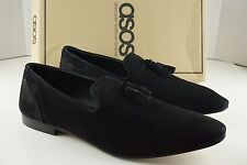 ASOS AsSeenOnScreen Black Suede Tassel Shoes Loafers MENS 10.5 UK / 11 US  NEW
