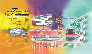 """SINGAPORE, 1998, """"DEFINITIVE OF TRANSPORTATION HIGH"""" S/S MINT NH GOOD CONDITION"""