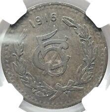 1916 Mexico 5 centavos NGC VF 30 BN Bronze 28mm KM 422 (M582)