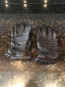 HARLEY DAVIDSON Men's Leather Motorcycle Riding Gloves Large Black