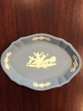 Wedgwood Blue Jasper Jasperware Cherubs Small Dish Oval Ring Trinket Soap