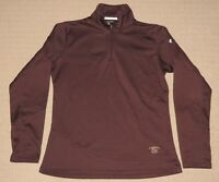 Womens Under Armour UA Coldgear Thornapple Pointe Golf Pullover MD Medium Brown