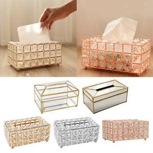 Shiny Tissue Box Crystal Napkin Holder for Restauant Living Room Hotel Decor