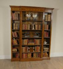 Walnut Breakfront Bookcase Sheraton Regency