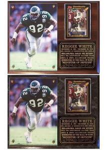 Reggie White #92 The Minister of Defense Philadelphia Eagles Photo Card Plaque