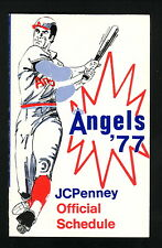 California Angels--1977 Pocket Schedule--JC Penney