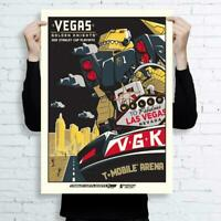 """Vegas Golden Knights Chance Robot 18"""" x 24"""" Limited Edition Serigraph Print"""