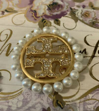 Tory Burch Pearl Pave Brooch Pin