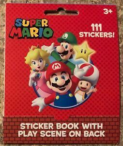 Super Mario Sticker Book 111 Stickers New FREE SHIP