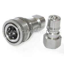 """Carpet Cleaning Wand Stainless Steel 1/4"""" Quick Connect Coupler Valve Truckmount"""