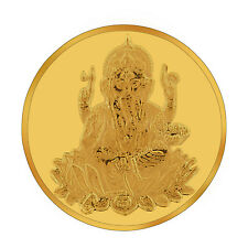 RSBL eCoins Ganeshji 2 gm Gold Coin 24kt purity 995 Fineness-WITH TAX INVOICE