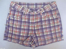 67% OFF! AUTH HERE + THERE GIRL'S PLAID SHORTS EUR 134/US 9-10 BNEW US$15