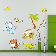 jungle animal zoo wall sticker decal kids baby room nursery mural gift toy