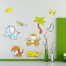 Giungla Zoo Animale Muro Adesivo Decalcomania Kids Baby Nursery Room murale regalo giocattolo