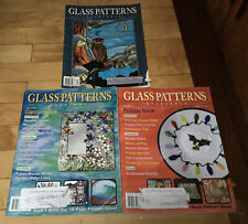 Stained Glass Patterns Quarterly 3 Magazines With Patterns.