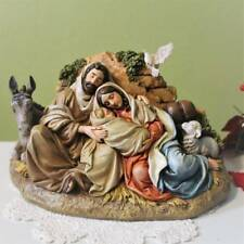Nativity Set Holy Family 9 inch Statue A Long Night Donkey Lamb Dove Christmas