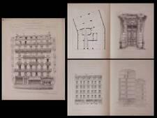 PARIS, 17 RUE LAGRANGE  - PLANCHES ARCHITECTURE 1895 - RICH
