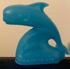 Mold-A-Rama Pilot Whale Souvenir Toy - Zoo De Granby in Quebec - Dark Aqua Blue