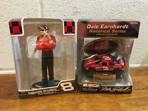 Nascar Collectible Ornaments Dale Earnhardt Jr. & Dale Earnhardt New In Box
