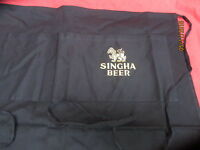 "Singha Lager / Beer Embroidered Long Two Pocket bar apron ""LION OF ASIA"""