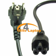 New EU C5 SCHUKO Mains Power Cable Lead Cloverleaf for Laptop Adapters 16A