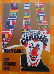 ZIRKUS AK Circus Festival 4e Monte Carlo 1977
