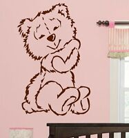 LARGE NURSERY BABY TEDDY BEAR CUTE WALL MURAL STICKER ART TRANSFER DECAL POSTER