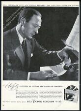 1946 Jascha Heifetz photo by Yousuf Karsh RCA Victor Records vintage print ad