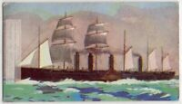 """1858 S.S. """"Great Eastern"""" British Iron Sailing Steamship 1930s Trade Ad Card"""