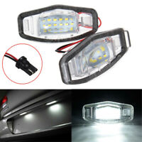 2Pc 18 LED License Plate Light Direct For Acura TL TSX MDX Honda Civic Accord