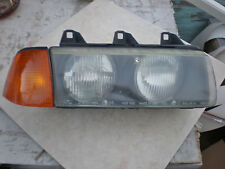 E36 convertible right headlight & amber turn signal light + holders with bulbs