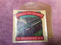 VTG 1950s Car Sticker Souvenir Emblem NH Cog Railway Mt Washington New Hampshire