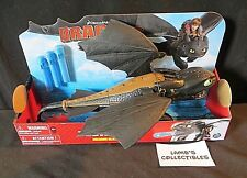 """Dreamworks Dragons Toothless Dragon blaster How to Train your Dragon 13"""" figure"""