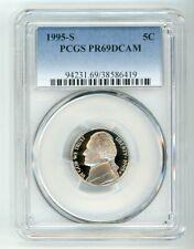 1995 S JEFFERSON NICKEL 5C PCGS PR69DCAM 38586419