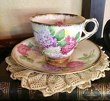 Royal Stafford Carousel Floral Pink And Purple Tea Cup And Saucer