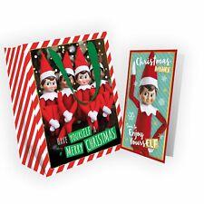 Elf on The Shelf Christmas Gifting Bundle, Christmas Card & Matching Gift Bag