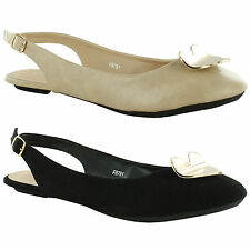 Flat (less than 0.5') Slingbacks Unbranded Shoes for Women