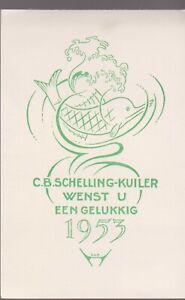 ex-libris C.B Schelling-Kuiler Wenst U Een Gelukkig 1953 (SAB)