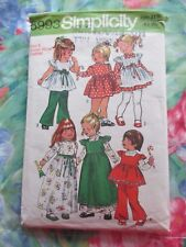 SIMPLICITY VINTAGE 70's SEWING PATTERN #5993 ~ TODDLERS SMOCK, DRESS & PANTS