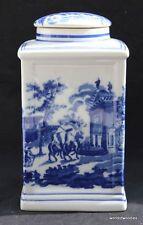 LARGE  FLOW BLUE  STORAGE JAR