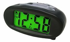 Acctim Smartlite Eclipse Dual Solar & Battery Power Alarm Clock Black 14193