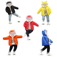 Kids Baby Boys Winter Coat Cloak Jacket Thick Warm Hoodie Outerwear Clothes L
