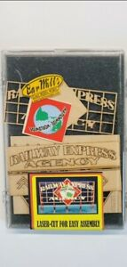 HO-O Scale Railway Express Billboard Sign Wood Kit from Bar Mills #91202,  NEW